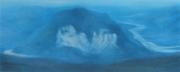Monte Toc e il fiume Piave 2018 pastello su cartone cm 31x78